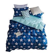皮爾卡丹藍色星空親膚磨毛床上用品